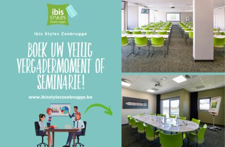 Boek uw veilig vergadermoment of seminarie bij ibis Styles Zeebrugge! - Foto 1